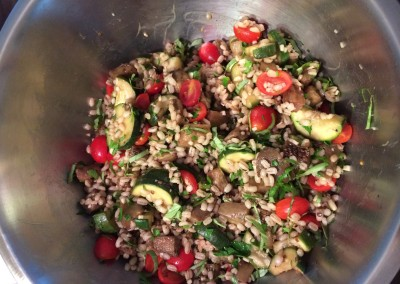 barley salad with roasted vegetables