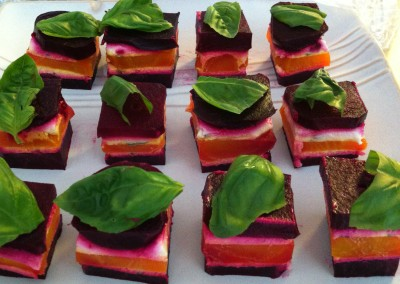 beet and cheese mille-feuille