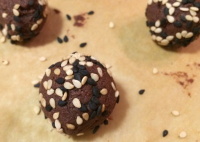 chocolate tahini truffles