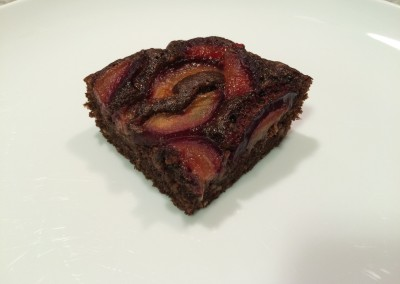 chocolate plum almond cake