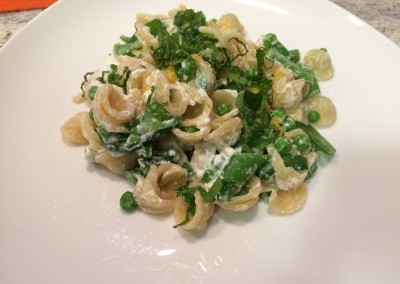 pasta with peas lemon and ricotta
