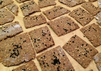 rye and seed crackers