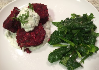 beet and bean cakes