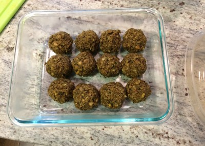 baked herb and nut falafel