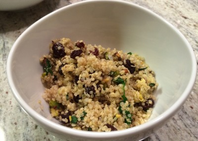 quinoa pilaf with raisins and nuts