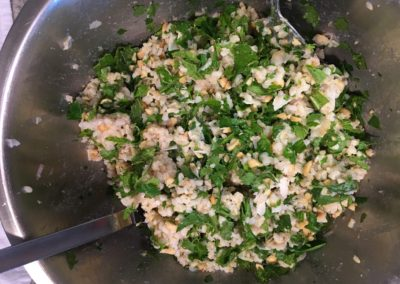 rice and herb salad