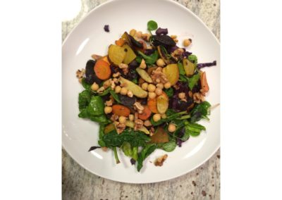 roasted vegetable salad with citrus vinaigrette